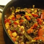 Swiss Chard Recipe with Garbanzo Beans – 4 Points