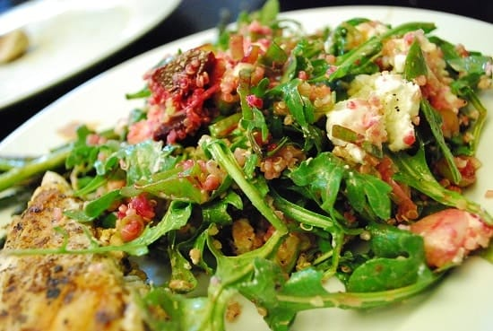 Arugula, Beet and Quinoa Salad