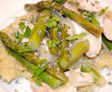 lavender chicken recipe with asparagus
