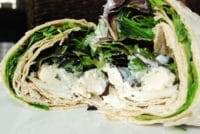 grilled chicken wrap with tzatziki