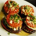 Grilled Eggplant with Tomatoes and Feta – 3 Points