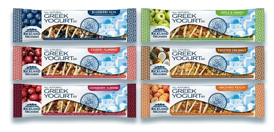 Rickland Orchards Greek Yogurt Bars