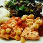Sauteed Salmon with Tomatoes and Chickpeas – 7 Points