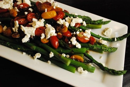 balsamic tomato aspargus
