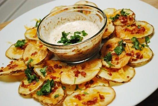 cheesy bacon ranch baked potato slices
