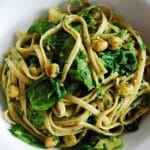 Lemon Spinach Chickpea Pasta with Parsley Pesto – 10 Points