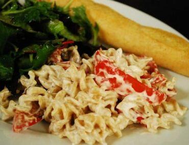 roasted red pepper alfredo pasta