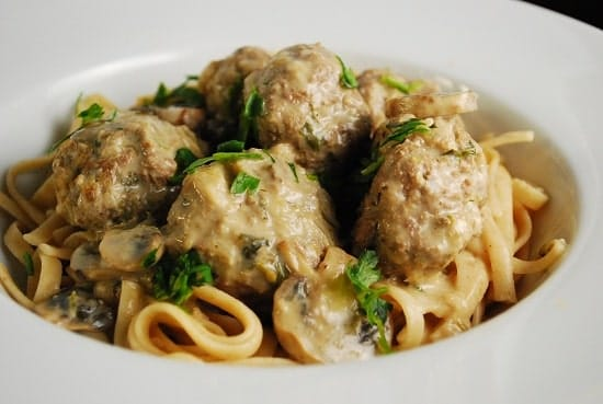 Swedish Meatballs Noodles Recipe Low calorie swedish meatballs recipe ...
