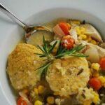 Crock Pot Chicken Stew with Cornmeal Dumplings Recipe – 6 Points