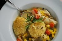 chicken stew with cornmeal dumplings