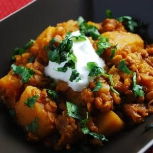 pumpkin lentil stew