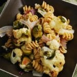 Pasta with Roasted Brussel Sprouts and Cauliflower Recipe – 6 Points