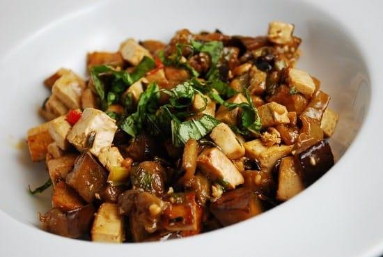 eggplant and tofu stir fry