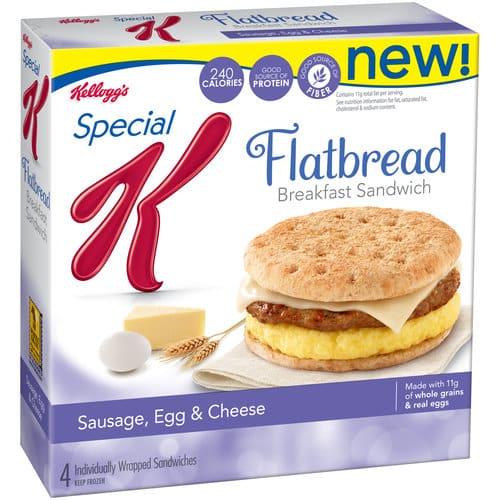 special k flatbread breakfast sandwiches