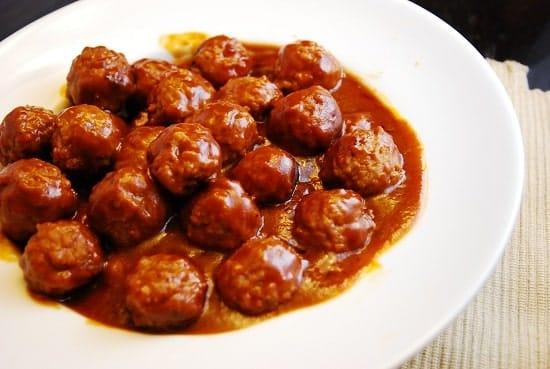 hot and sweet mini meatballs
