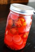 spicy pickled radishes
