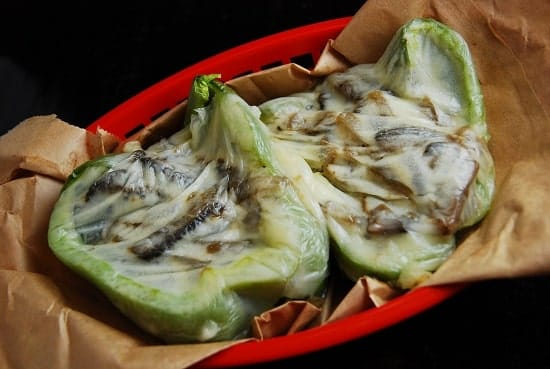 Vegetarian Cheesesteak Stuffed Peppers