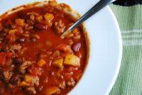 light beef chili