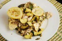 chicken with zucchini and feta