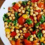Chickpea Tomato and Basil Salad Recipe – 3 Points