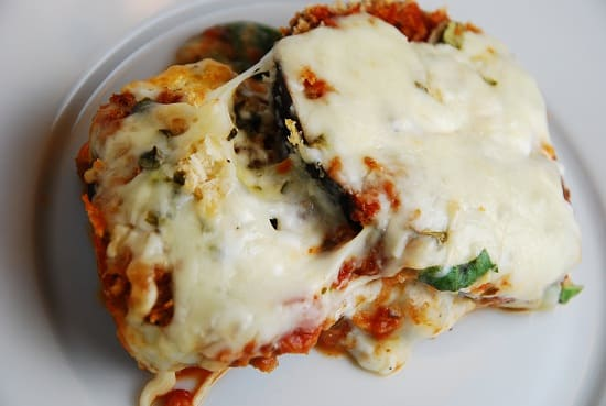 Eggplant Parmesan serving