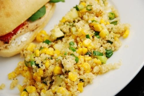 Quinoa, Zucchini and Corn