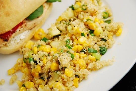 quinoa corn and zucchini
