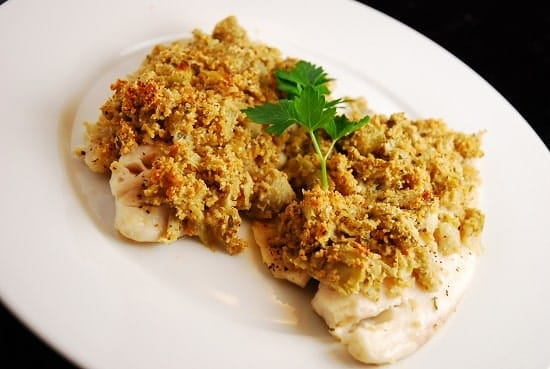 Artichoke and Parmesan Tilapia