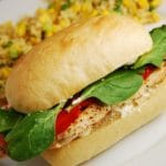 Chicken, Roasted Red Pepper, and Goat Cheese Sandwich Recipe – 8 Points