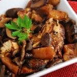 Crock Pot Balsamic Chicken with Pears and Portabella Mushrooms – 4 Points