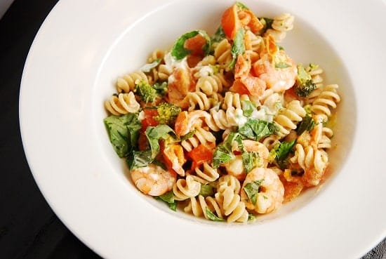 Shrimp and Goat Cheese Pasta