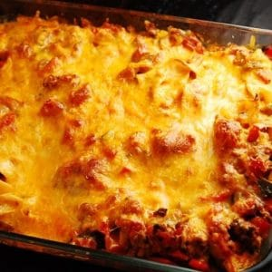 ground beef and cheddar casserole