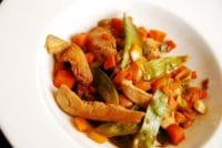 chicken stir fry with date molasses