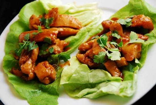 Thai Chicken Lettuce Wraps Recipe – 4 Points + - LaaLoosh