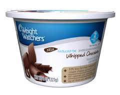 Weight Watchers Reduced Fat Whipped Chocolate Cream Cheese Spread