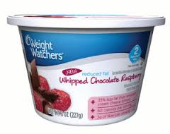 Weight Watchers Reduced Fat Whipped Chocolate Raspberry Cream Cheese Spread