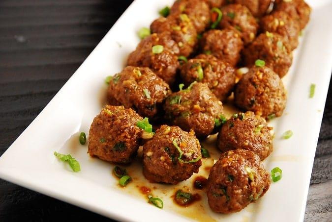 asian meatballs