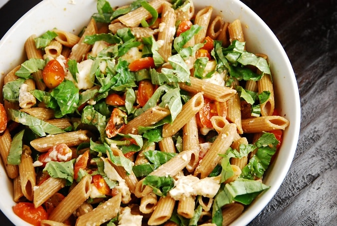 Caprese Pasta Salad Recipe 6 Points Laaloosh