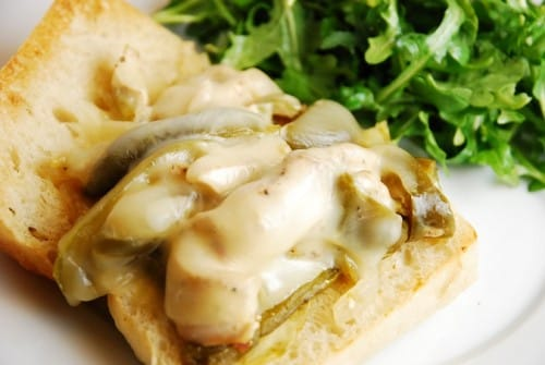 Crock Pot Chicken Philly Cheesesteak