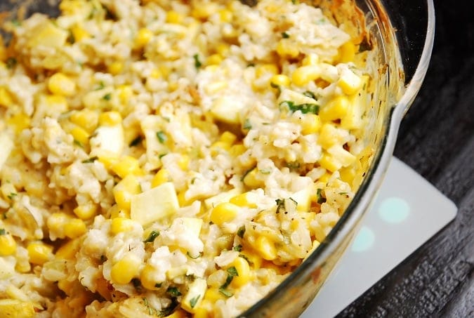 Mexican Style Corn and Rice Casserole Recipe – 7 Points + - LaaLoosh