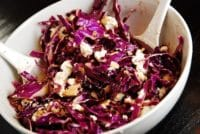 red cabbage goat cheese salad