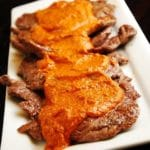 Skirt Steak with Romesco Sauce – 5 Points