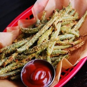 baked parmesan green bean fries