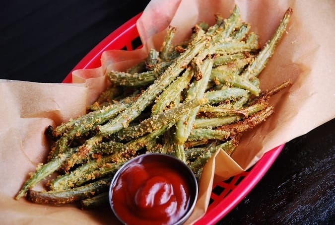 Crispy Baked Parmesan Green Bean Fries Recipe — Dishmaps