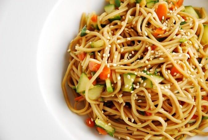 cold oriental noodles