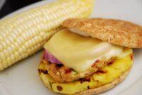 grilled pineapple chicken burger