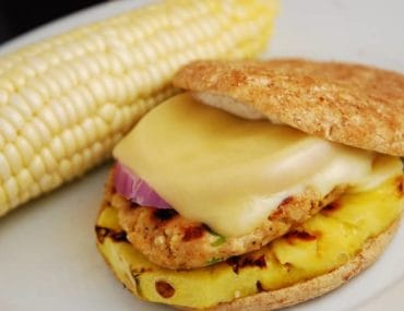 grilled pineapple chicken burger