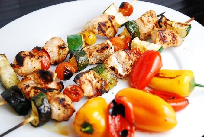 lebanese grilled chicken kebabs