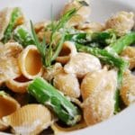 Lemon Basil Goat Cheese and Asparagus Pasta Recipe – 7 Points