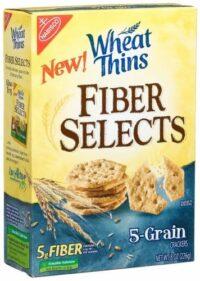 nabisco wheat thins fiber select